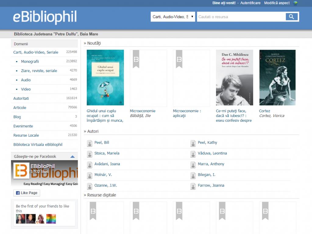 eBibliophil – Biblioteca Judeţeană Maramureş